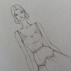 """ถูกใจ 79 คน, ความคิดเห็น 2 รายการ - Laura Tessaris (@laura_tessaris) บน Instagram: """" #fashionsketch #fashionillustration #fashion #sketch #illustration #experiment #ombre #sand…"""""""