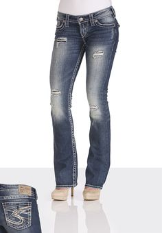 Silver Jeans Co.® Pioneer Destructed Jeans - maurices.com -- my new favorite!