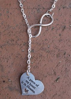 Finders Keepers Creations, LLC - Infinity Necklace - A piece of my heart is in Heaven, $14.99 (http://www.finderskeeperscreations.com/infinity-necklace-a-piece-of-my-heart-is-in-heaven/)
