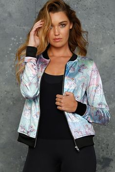 So Cute I Could Puke GF Bomber - LIMITED (AU $100AUD) by BlackMilk Clothing