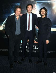 James, Hugh Grant and Ben Whishaw at the London gala for Cloud Atlas at the Curzon Mayfair on Monday night, Feb. 18, 2013