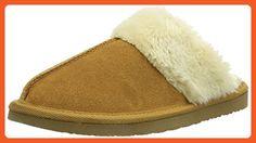 Minnetonka Women's Chesney Scuff Flat,Cinnamon,8 M US - Slippers for women (*Amazon Partner-Link)