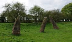 Gwent-Trellech-Harold's Stones-Bronze Age Standing Stones-viewed from N. The stones have legends attached to them. One says that they landed here after a throwing between the Devil and the giant Jack O'Kent. Another says that their name commemorates a battle won by King Harold.