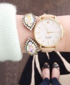 What a fun combination! Both are classic and delicate, but the pop of the bracelet makes me LOVE this combo