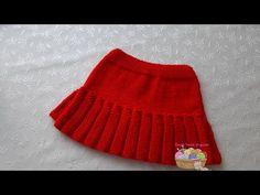 Crochet Skirts, Knit Skirt, Knit Crochet, Knitting Videos, Crochet Videos, Crochet Designs, Knitting Designs, Baby Skirt, Baby Knitting Patterns