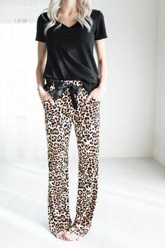Leopard Lounge PantsThe cutest, comfiest, most necessary pants.