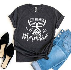 Mermaid Vibes T-shirt Cute Shirts, Kids Shirts, Rainbow Sweater, Mermaid Outfit, Cute Mermaid, Me And Bae, Best Friends For Life, Unicorn Shirt, Love T Shirt
