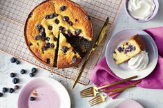 This moist, berry-studded cake gets its great texture from medium-grind cornmeal. Fresh blueberries are in abundance this time of year in the South. With the u-pick farms and farmers' markets, you can easily get carried away and come home with enough … Cake Recipes From Scratch, Best Cake Recipes, Delicious Recipes, Easy Recipes, Favorite Recipes, Summer Recipes, Holiday Recipes, Healthy Recipes, Cornmeal Cake Recipe