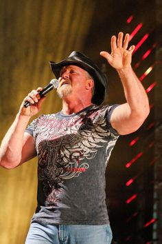 Trace Adkins takes the stage at LP Field, Nashville during the 2011 CMA Music Festival.