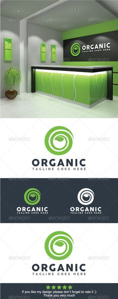 Organic Logo Template — Vector EPS #ecological #healthy food • Available here → https://graphicriver.net/item/organic-logo-template/8473498?ref=pxcr