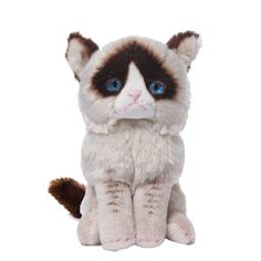 This plush toy by Gund is a Grumpy cat soft toy. Grumpy Cat is a new Internet sensation that will charm you with her grumpy face but lovely character. Suitable for ages Cat Lover Gifts, Cat Gifts, Cat Lovers, Grump Cat, Dog Cat, Doraemon, Stuffed Animal Cat, Stuffed Animals, Cat With Blue Eyes