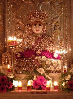 Temple Room, Home Temple, Mandir Decoration, Jain Temple, Buddhist Art, Indian Gods, Hinduism, Framed Art, Religion