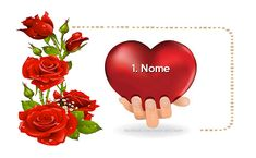 Nome nel Cuore | Cuore 17/2 Place Card Holders, Gifts, Anna, Hobby, Emoticon, Hearts, Lily, Angelo, Messages