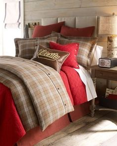 Classic plaid bed linens he'll never outgrow.