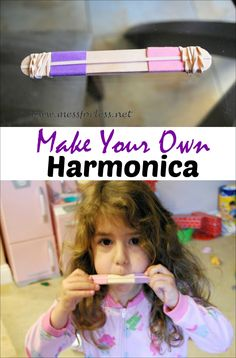 Homemade harmonica - simple craft that will delight your kids!