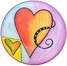 New Heart Round Plate by Double Creek Pottery | Sticks Furniture, Home Decorative Accents
