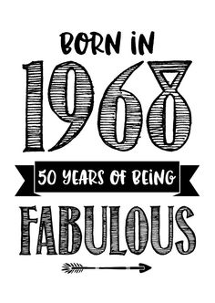 Hippe kaart met de tekst 'Born in 1969 50 years of being fabulous'. 50th Birthday Quotes, 50th Birthday Cards, Happy 50th Birthday, Happy Birthday Images, Birthday Wishes, 50 Birthday, Birthday Ideas, 50th Birthday Cake Toppers, Fabulous Quotes