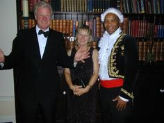Donald & Zoe Sweeting with MP Edward Leigh, Conservative Party Summer Ball.
