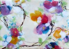 Original Encaustic Painting - Abstract Painting - Floral Abstract - Encaustic Art - KLynnsart by KLynnsArt on Etsy