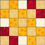 Woven Irish Chain quilt block 2