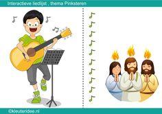 Interactieve liedlijst pinksteren met heel veel pinksteriedjes voor kleuters by juf Petra