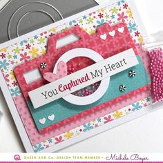 Picture Perfect Kit - Queen & Co Diy Mini Album, Mini Album Tutorial, Mini Scrapbook Albums, Scrapbook Cards, Scrapbooking, Sequin Cards, Mason Jar Cards, Camera Cards, Easy Valentine Crafts
