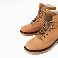 Image 4 of LEATHER MOUNTAIN BOOTS from Zara