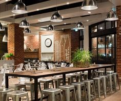 Funky Farmhouse Eateries - The Capital Kitchen by Mim Design is a Modern Country Style Restaurant (GALLERY) Restaurant Interior Design, Home Interior, Modern Interior Design, Kitchen Interior, Design Kitchen, Casas Interior, Restaurant Furniture, Interior Colors, Interior Ideas