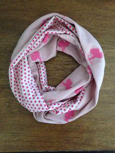 Valentine Cherub and Polka Dot Infinity Scarf by KutKloth on Etsy, $10.00