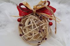 Christmas Ornament Christmas Decorations Rustic by cranberrydreams