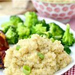 Creamy Parmesan-Garlic Quinoa