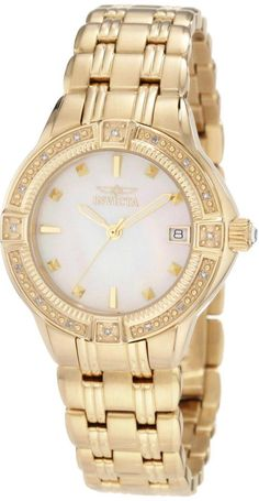 #Invicta #Watch , Invicta Women's 0268 II Collection Diamond Accented 18k Gold-Plated Watch