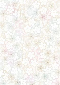 Retro White Flowers