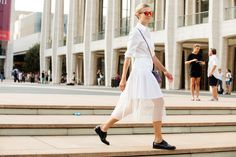 The NYFW Street-Style Looks You'll Never Forget #refinery29  All white is all right.