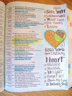 Ϯ ❤ Ϯ                                                        Spiritual Thought                                                ♥Psalms 119:2, 3, 4, 7, 11, 14, 15, 16, 17, 18