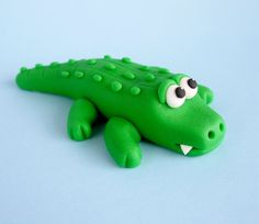 Fondant Alligator Cake Topper Fondant por SugarDecorByLetty