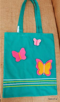 happyartgr: fabric tote bag!!! Fabric Tote Bags, Reusable Tote Bags, Jewerly, Handmade Gifts, Blog, Happy, Art, Busy Bags, Bags