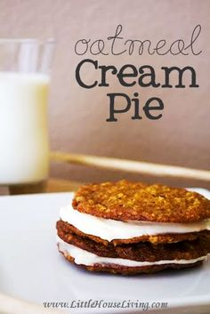 What could be better than packing one of these delicious from-scratch Oatmeal Cream Pies in a lunchbox? Soft and chewy and amazing!