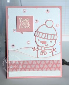 Super Cool News card by Michele Boyer for Paper Smooches - Snowman 2