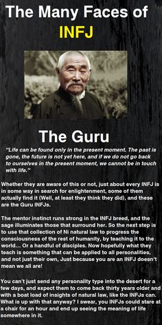 The many faces of the Infj : the Guru