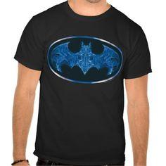 Blue Smoke Bat Symbol Tshirt