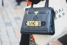 classic Moschino bag Fashion Journalism, Moschino Bag, Street Style, Shoulder Bag, Group, Classic, Bags, Accessories, Derby