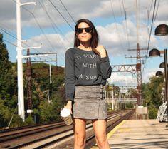 sweatshirt + skirt
