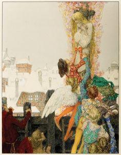The Wild Swans -- Heinrich Lefler and Joseph Urban -- Fairytale Illustration