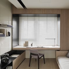 Modern home office in the bedroom