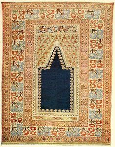 ANTIQUE GHEORDEZ Prayer Rug From the Collection of Mr. George H. Ellwanger Size: 4.6 x 5.11 http://www.gutenberg.org/files/33144/33144-h/33144-h.htm
