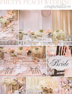 Love these Pretty Peach and Chevron Wedding Details / Alante Photography / via StyleUnveiled.com / @Alan Tanneré Fields Photography