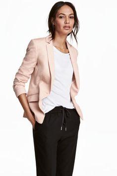 Blazer en jersey - Rose poudré - FEMME | H&M FR