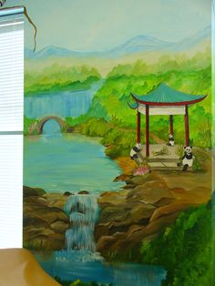 china themed mural - Google Search