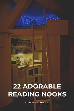 This list of the best reading nooks includes inspiration for readers of all styles.  #books #readingnook #readingspot